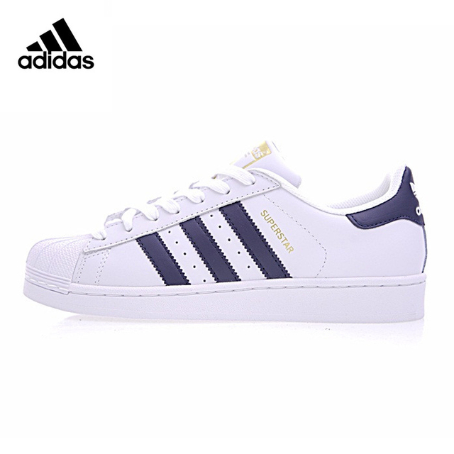 Adidas Superstar Clover Gold Label Woman Skateboarding Shoes, White,  Non-slip Breathable Wear