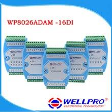 Módulo de entrada digital wp8026adão, modelo 16di/optoacoplador isolado/rs485 modbus rtu comunicações