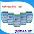 WP8026ADAM (16DI) _ модуль Дискретного ввода/Оптронной развязкой/RS485 MODBUS RTU связи