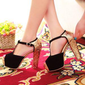 Image 5 - Limited New Gladiator Sandals Women Tenis Feminino Big Size 32  43 peep toe High Heels wedding party Shoes woman Pumps 171
