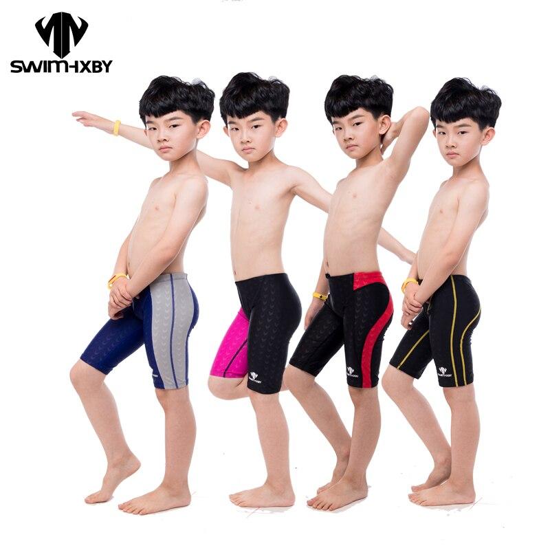 HXBY Professional Kids Swimwear Boys Swimsuit Mens Swim Trunk Boy Swimming Trunks For Children Swimsuit Men Swimwear Swim Shorts