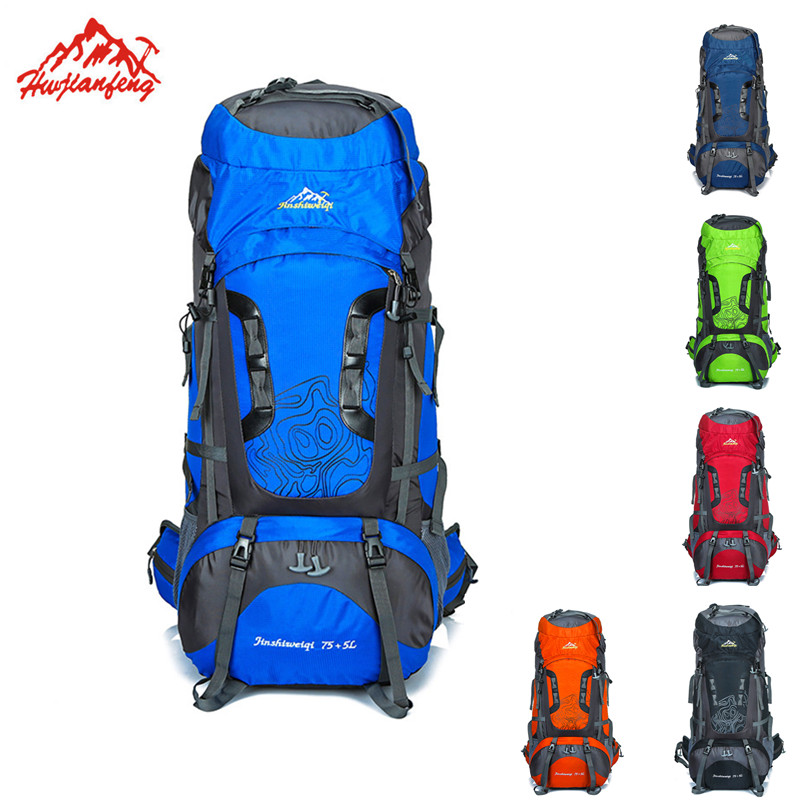 Unisex Mochila Outdoor Backpack Climbing Ski Travel Backpack Waterproof Rucksack Nylon Camping Bag Hiking 80L Tourist