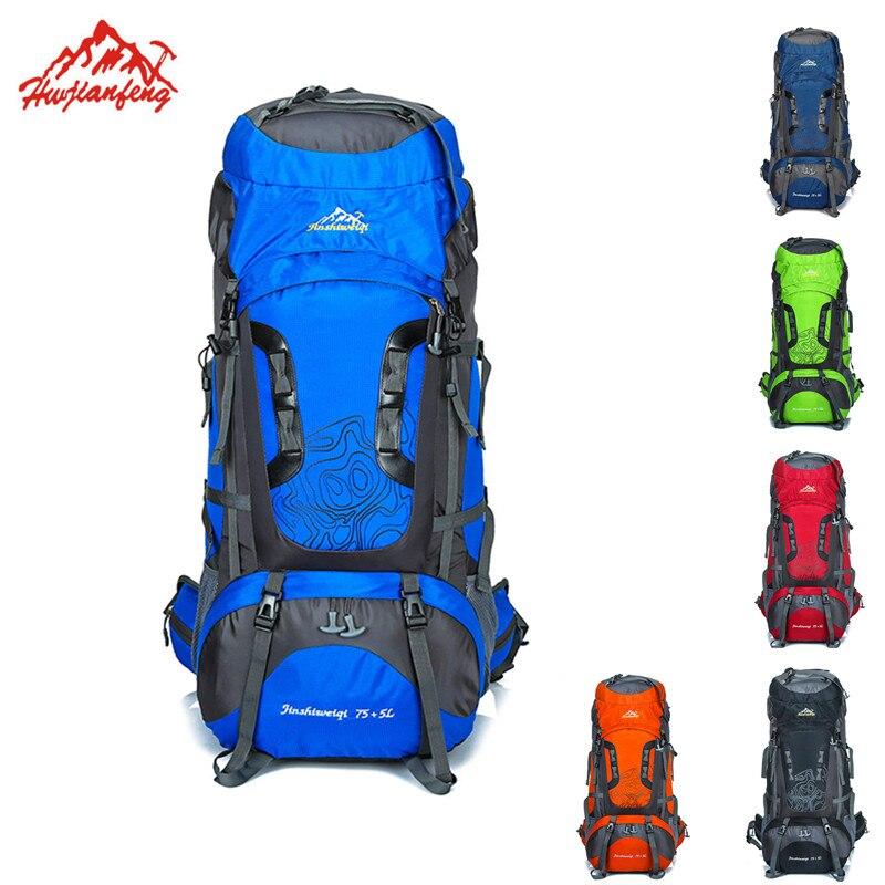 Unisexe À Dos En Plein Air Sac À Dos Escalade Ski sac à dos de voyage sac à dos étanche Nylon sac de camping Randonnée Touristique 80L Sac À Dos