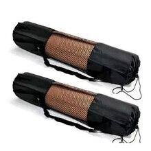 1PC Black Portable Yoga Mat Bag Polyester Nylon Mesh Black Backpack for Health Beautity Adjustable