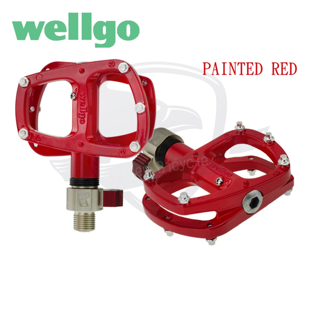 Wellgo M194 MTB Aluminum Sealed Bearing Pedal Red