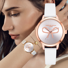 Lvpai Brand 2018 New 3D Bow Rose Gold Girl Wristwatch Ladies Creative Leather Quartz Women