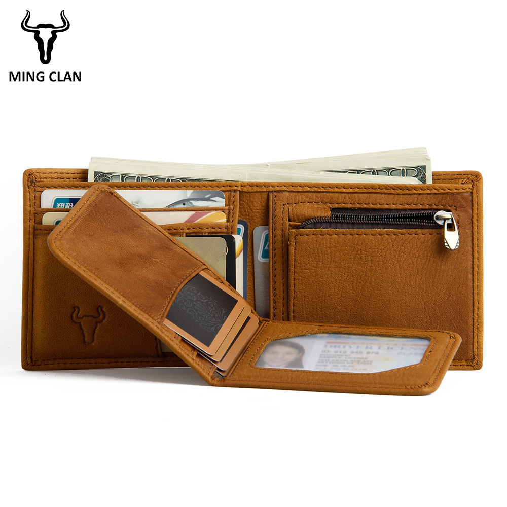 Mingclan Design Wallet Purses Wallets Men With Coin Pocket Removable Card Holder Luxury Slim Wallet Small Purse Magic Wallets