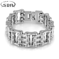 130g 24mm Width Punk 316L Stainless Steel Bracelet Men Biker Bicycle Motorcycle Chain Men S Bracelets