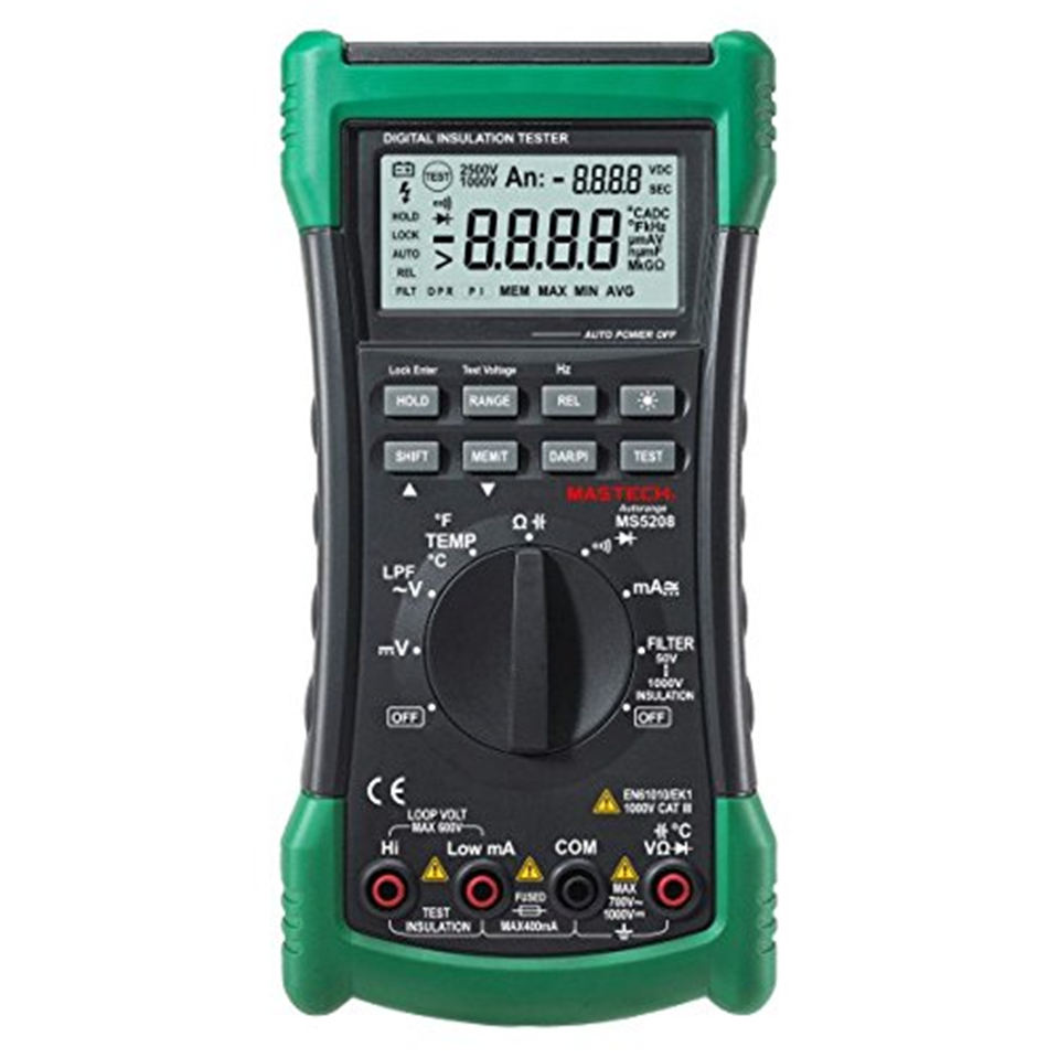 3 in 1 MS5208 6600 Counts Digital Multimeter Insulation Resistance tester Megger tester True RMS AC