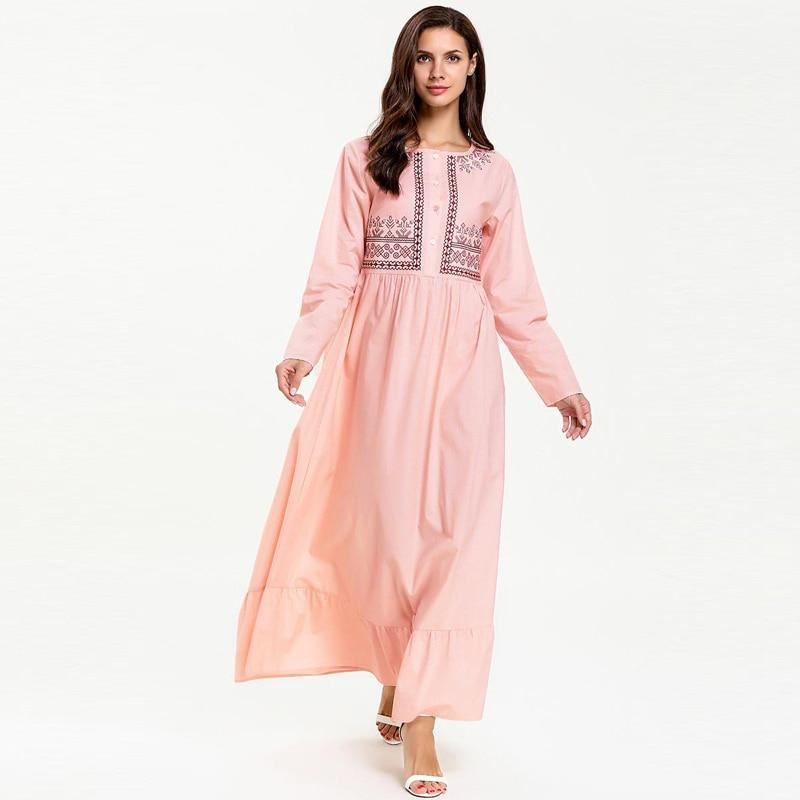 Vestidos Kaftan Abaya Dubai Arabic Muslim Hijab Dress Turkey Women Caftan Marocain Eid Islamic Dress Ramadan Tesettur Elbise