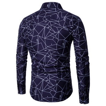 Men Printed Long-sleeved Slim Fit Shirt 1