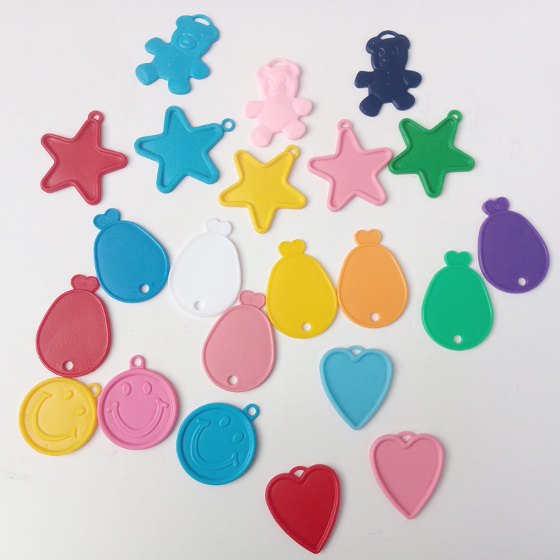 HEART STAR Shape HELIUM Balloon Weight Blue /& Pink Plastic Birthday Wedding