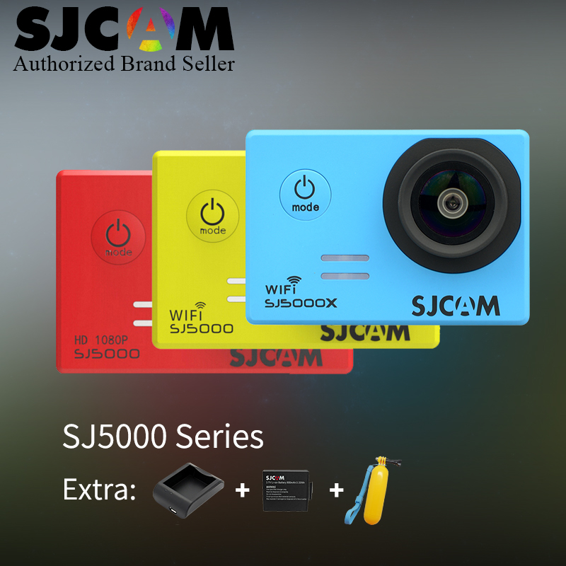 SJCAM SJ5000 Series SJ5000 / SJ5000 WiFi / SJ5000X 1080P Action Camera SJ cam DV + Battery+Charger+Float vs sj4000 go pro camera original sjcam sj5000x elite sj5000 plus sj5000 wifi sj5000 30m waterproof sports action camera sj cam dv with many accessories