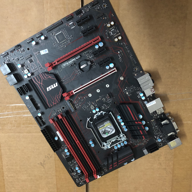 Original Motherboard For MSI Z270 GAMING PLUS DDR4 LGA 1151 USB2.0 USB3.1 64GB For 7500 7700K 14nm CPU Z270 Desktop Motherboard