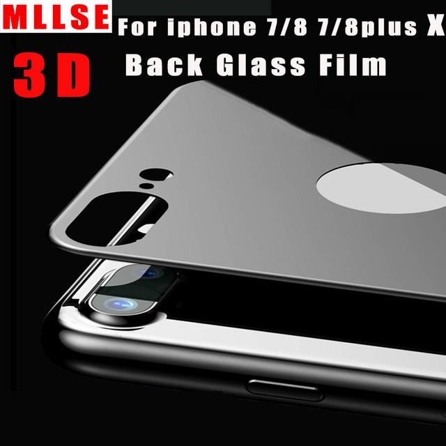 quality design fbb5f fa891 US $6.3 |3D Back Glass Film For iphone 8 7 Plus Tempered Glass for iPhone X  Rear protection film for iphone 8 Full coverage Back film-in Phone Screen  ...
