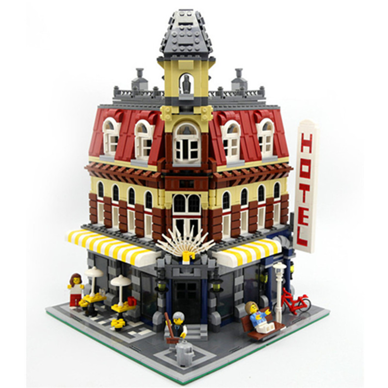 2133pcs Cafe Corner Model Building Kits Blocks Kid Gift compatible with legoingly 10182 DIY Educational Toys For  Children new lepin 15003 2859pcs the topwn hall model building blocks kid toys kits compatible with 10224 educational children day gift
