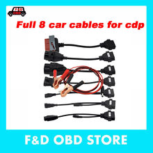 OBD obd2 full set 8 car cables tcs CD-P Plus car cable 8 car diagnostic-tool Interface cables For Autocom C/DP Del-phi DS-150E(China)