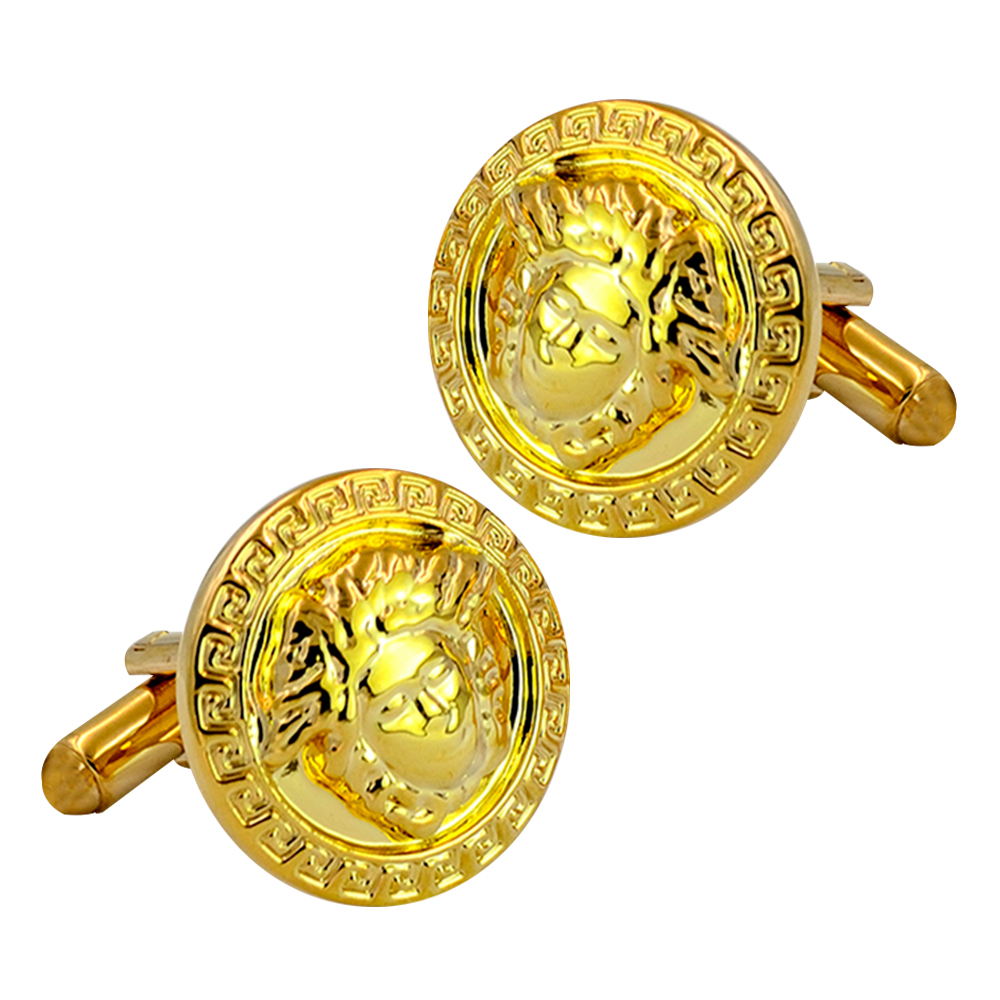2018 best selling high quality cufflinks for mens light yellow gold color cuff links shirt luxury brand wedding father day gift