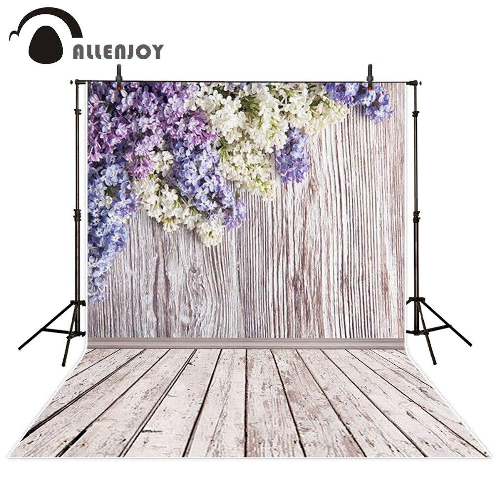 Allenjoy 10ftx6.5ft Photography Backdrop romantic flower brick wooden wedding photography background for photography studio allenjoy backdrop background wonderland