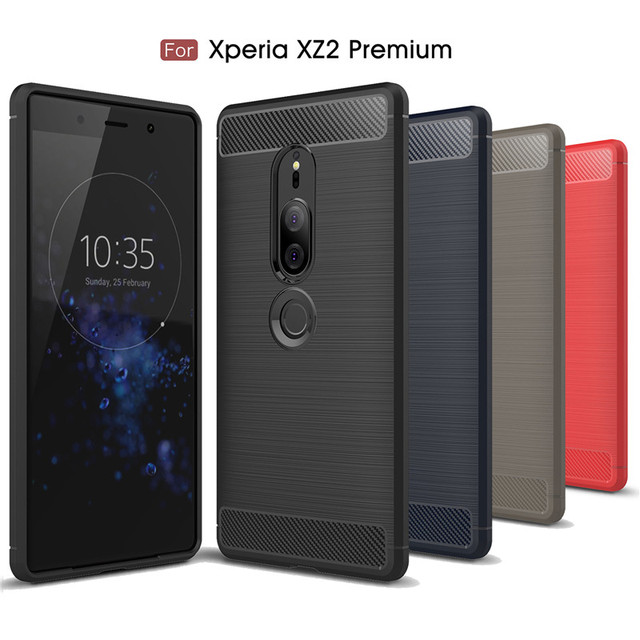 premium selection 94744 07adc US $1.89 |For Xperia XZ2 Premium Case Soft Silicon Case Cover Carbon Fiber  Case For Sony Xperia XZ2 Premium Phone Case Coque Back Cover-in Fitted ...