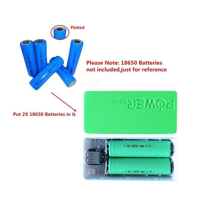 Thương Hiệu thời trang 5600 mah 2X18650 USB Ngân Hàng Điện Pin Sạc Trường Hợp DIY Box Cho iPhone Sumsang Điện Thoại Thông Minh Điện Thoại Di Động nhà máy Giá