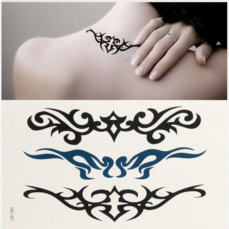 Women Simple Delicate SMILE English Sexy Words Temporary Tattoo Body Art  Disposable Waterproof Flash Tatoo em Tatuagens Temporárias de Beleza   Saúde  no ... 85ef4da205de