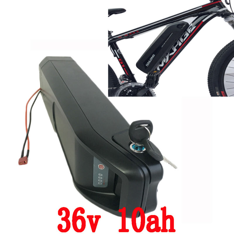 EU Free customs duty 36V 10AH Bike battery 36V Lithium ion Scooter battery 18650 Cell with Case 15A BMS 42V 2A charger free customs taxes factory 36 volt battery pack with charger and 15a bms for 36v 10ah lithium battery
