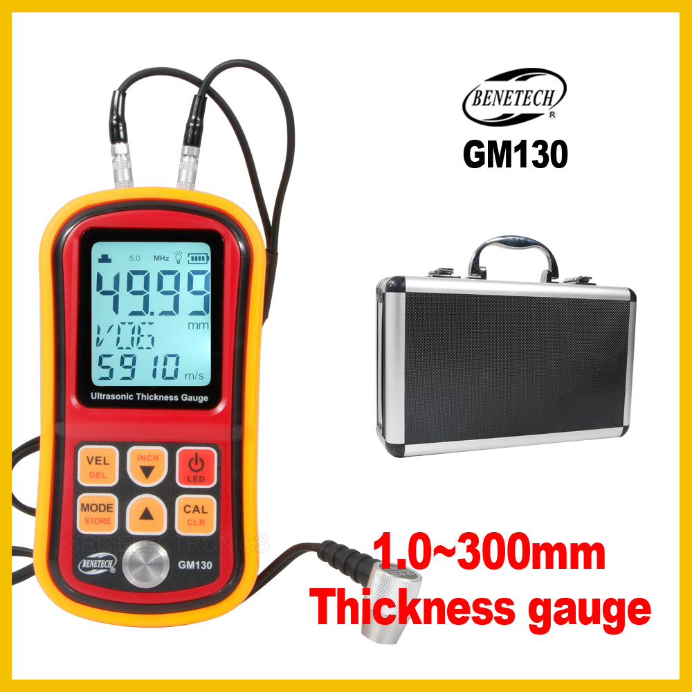 BENETECH Professional Digital Ultrasonic Thickness Gauge Auto Calibration to Assure the Accuracy measurement tool GM130 BENETECH