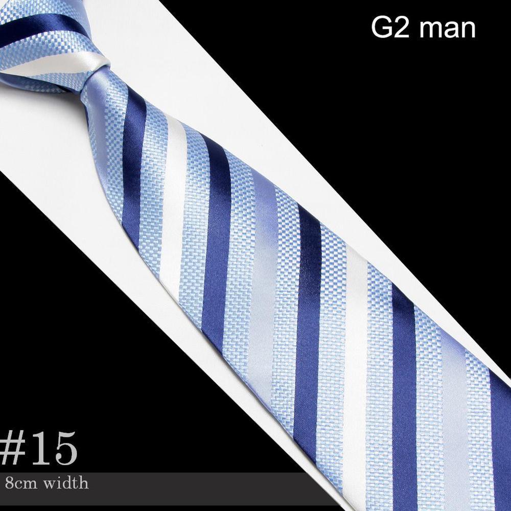 2018 blue Mens Microfiber Neckties fashion wedding silk tie neck ties striped business adult neck tie #15