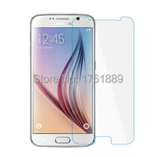 wholesale 0.3mm smartphone clear 9H pelicula de vidro tempered glass toughened protective film on phone for samsung s6 G9200