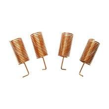 100 pz/lotto SW433 TH10 433MHz Goldern elicoidale antenna 2.15 dBi di Rame primavera antenne