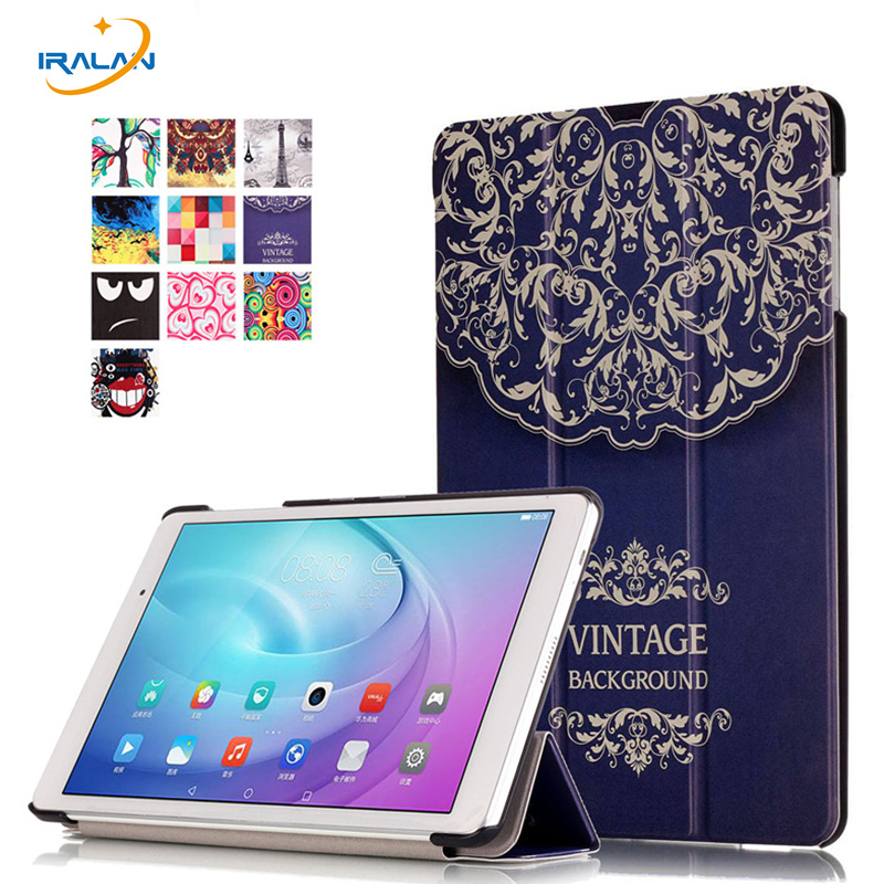 Magnetic Ultra smart case for Huawei MediaPad T2 Pro 10.0 FDR-A01W FDR-A03L leather stand Tri-fold tablet cover + stylus + film image