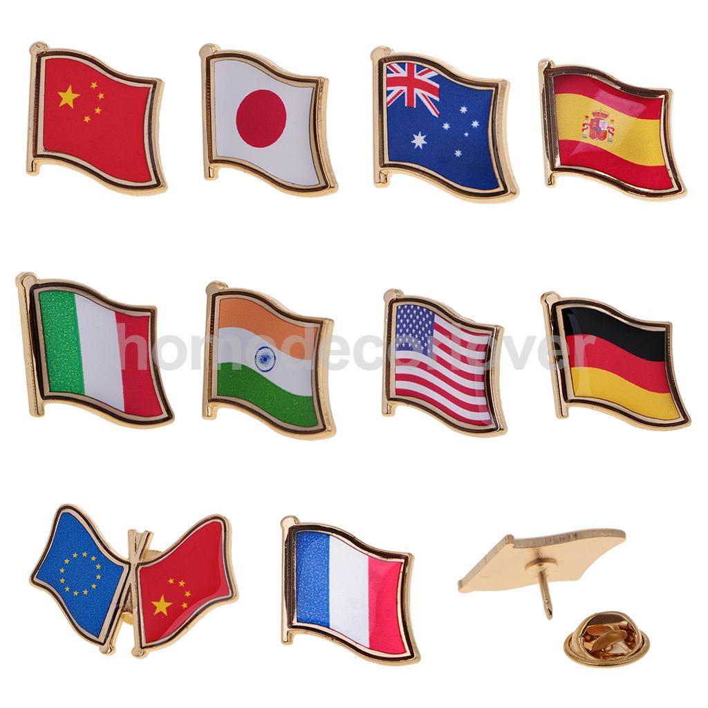 1Pc Emblème de drapeau du drapeau national de Chine pour homme Badge de