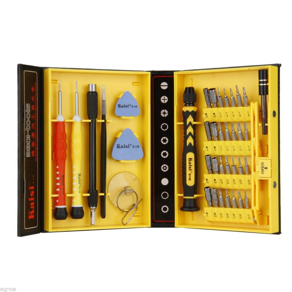 38 in 1 precision screwdriver set repair opening box magnetic tools kit for m. Black Bedroom Furniture Sets. Home Design Ideas