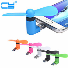 New Gadget 2 in 1 Mini Portable Micro USB Fans For Samsung Universal Android Phone Tablet