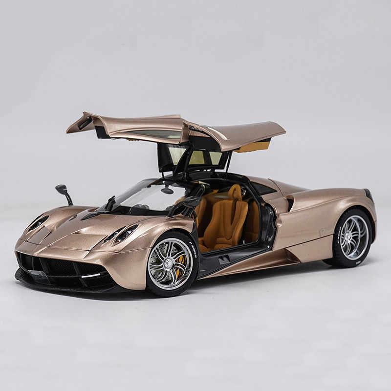 1:18 Skala Diecast Metal Sport Model Mobil Mainan untuk Pagani Mobil Automobili Huayra Diecast Supercar Model Mainan dengan Kotak Asli