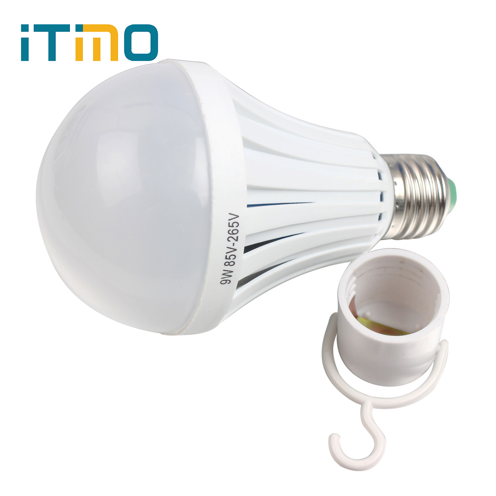 For Camping hunting Bright E27 9W Emergency Light Intelligent Magical Lamps Energy Saving Rechargeable Outdoor Lighting LED Bulb