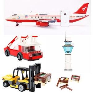 GUDI 856 + шт блок город большой пассажирский самолет блок сборки строительные блоки Развивающие Кирпичи игрушки для детей подарок