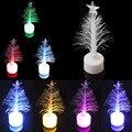Candeeiro de Mesa LED coloridas Luz da Noite de Fibra Óptica Da Árvore de Natal Crianças Xmas Holiday Party Decoração de Casa Noturna