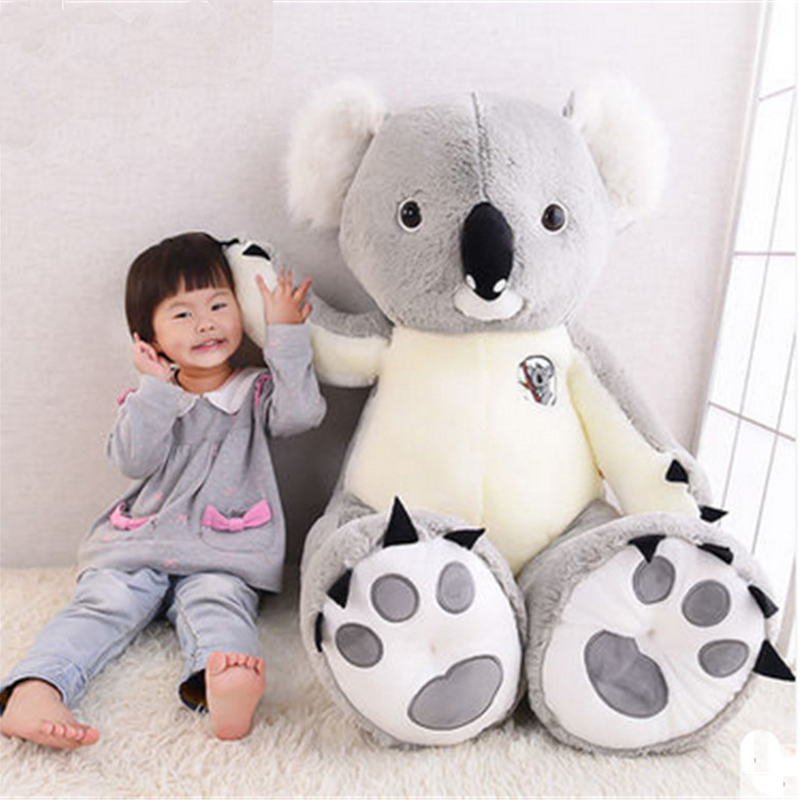 Fancytrader 140cm Jumbo Plush Animal Koala Toy Big Huge Stuffed Koalas Doll Nice Gifts for Children fancytrader new pop animal koala plush toy big stuffed plush koala doll 50cm best gift for children