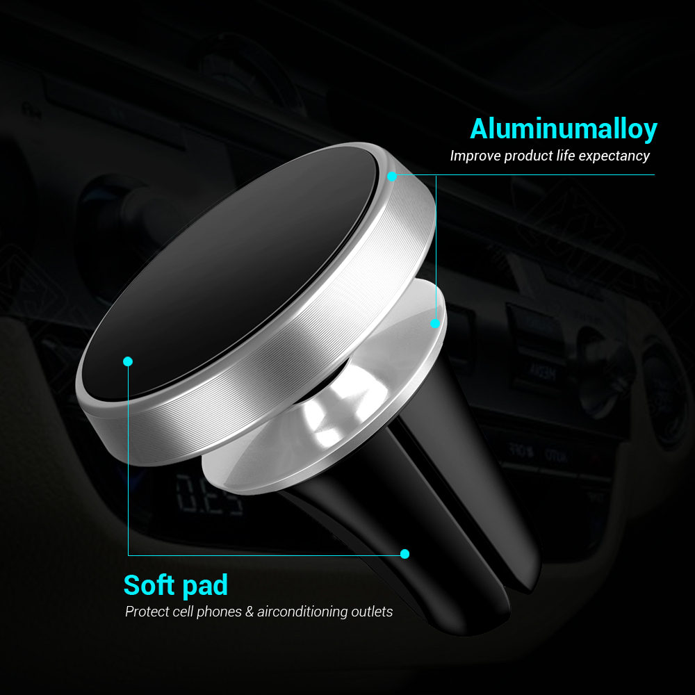 CASEIER Magnetic Car Phone Holder 360 Rotation Universal Car Holder For iPhone Samsung Huawei Xiaomi Magnet Car Mobile Support in Phone Holders Stands from Cellphones Telecommunications