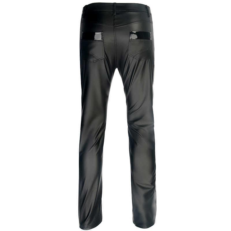 d6cc641864d ... Plus Size Underwear Men s Strapon Pants Stage Performance Sexy Gay  Fetish Men Latex leggings Faux Leather ...