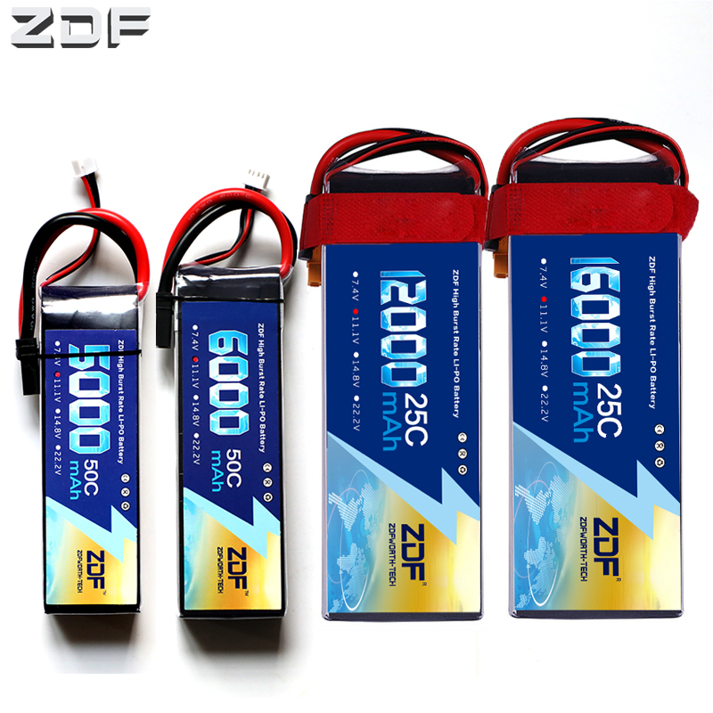 ZDF <font><b>Lipo</b></font> battery <font><b>3S</b></font> 11.1V 5000mAh 6000mah 8000mah 10000mah <font><b>12000mah</b></font> 16000mah 25C 30C 50C For RC Helicopter Quadcopter image