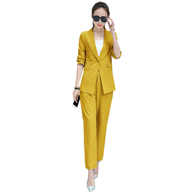 Suits for Women Two Piece Set Blazers and Pants Elegant Office Wear Work Black White Pant Suits Skinny Blazer Jacket Pants