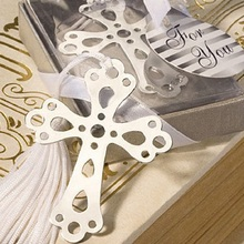 12PCS Boxed Blessings Silver Bible Cross Bookmark Bridal Baby Shower Souvenirs Holy Communion Wedding Favors and Gifts For Guest
