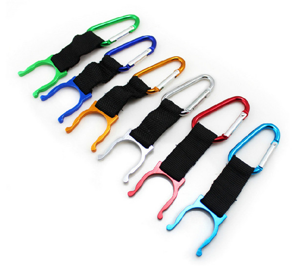 500 pcs camping Carabiner Water Bottle Buckle Hook Holder Clip For Camping Hiking survival Traveling tools