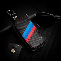 Knitting car key wallet For BMW Benz Audi Buick Volkswagen Toyota Ford general key bag Key holder Car Accessories