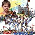 Castillo enlighten educativos bloques de construcción de juguetes para los niños regalos 32 hero caballero barco flecha caballo arma pistola