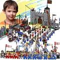 Castillo enlighten educativos bloques de construcción de juguetes para los niños regalos 32 mini hero caballero barco flecha caballo arma pistola