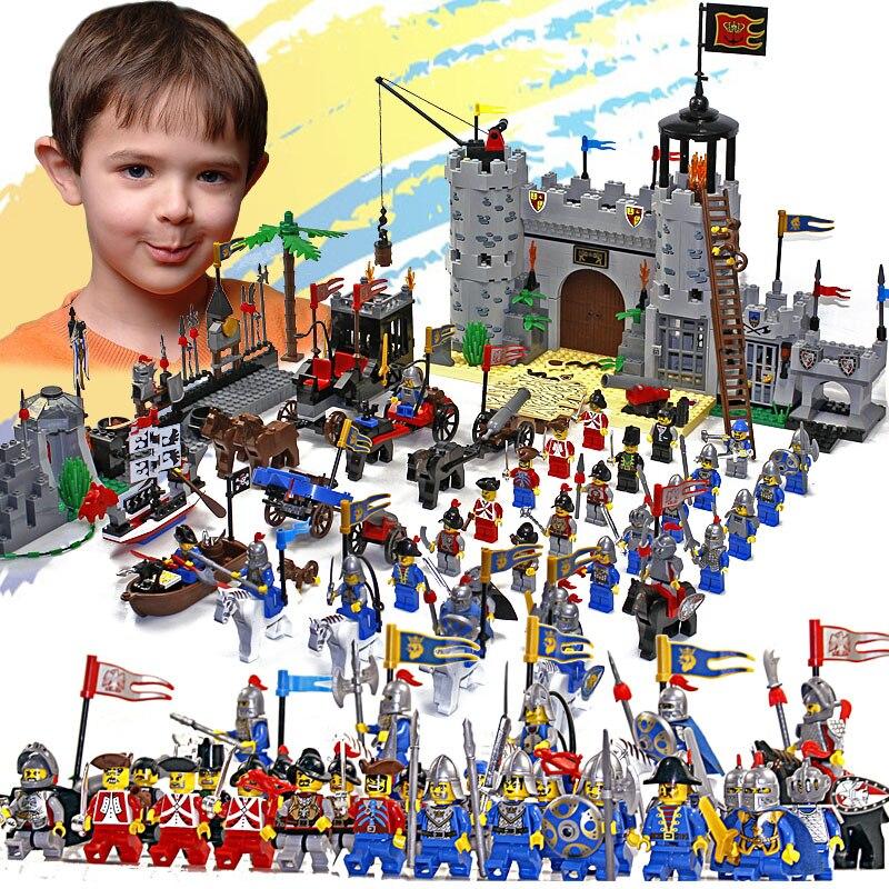 Enlighten Château Éducatifs Blocs de Construction Jouets Pour Enfants Enfants Cadeaux 32 Hero Chevalier Bateau Flèche Cheval Arme Pistolet
